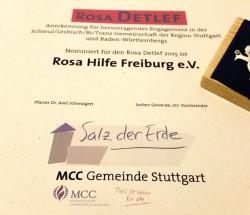 Rosa DETLEF für die Rosa Hilfe Freiburg e.V.